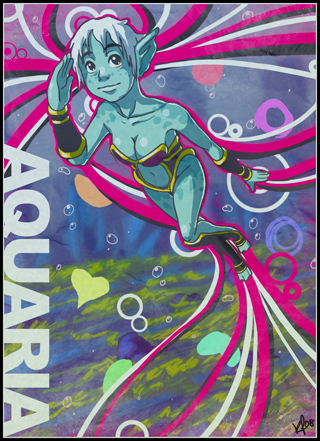 Aquaria Fan Art by Kyle Pulver